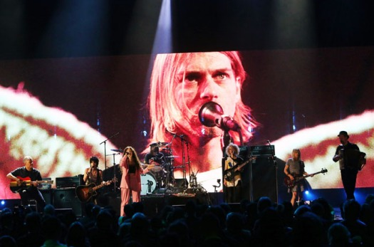 Lorde performing with Nirvana at the Hall of Fame induction ceremony, via billboard.com
