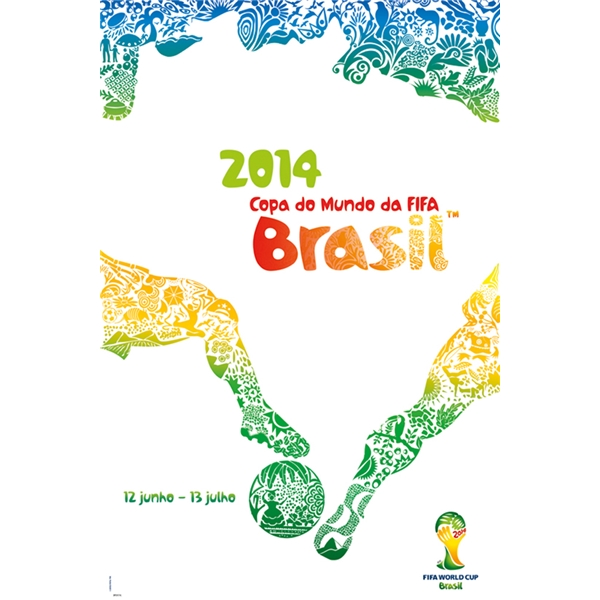 Official poster for the 2014 FIFA World Cup.