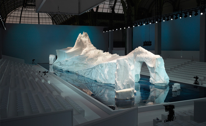 Chanel's infamous glacier from 2010.