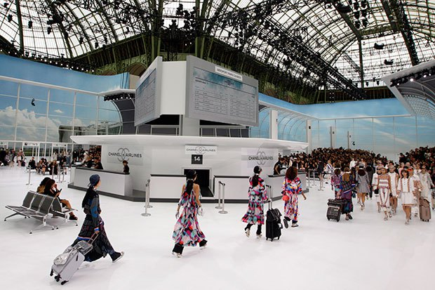 Chanel Spring 2016 Runway Show, Paris Fashion Week, October 6 2015. Photo by Francois Mori, Associated Press