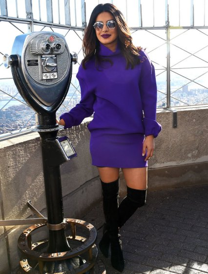 "Priyanka Chopra Visits The Empire State Building To Promote ""Quantico"""